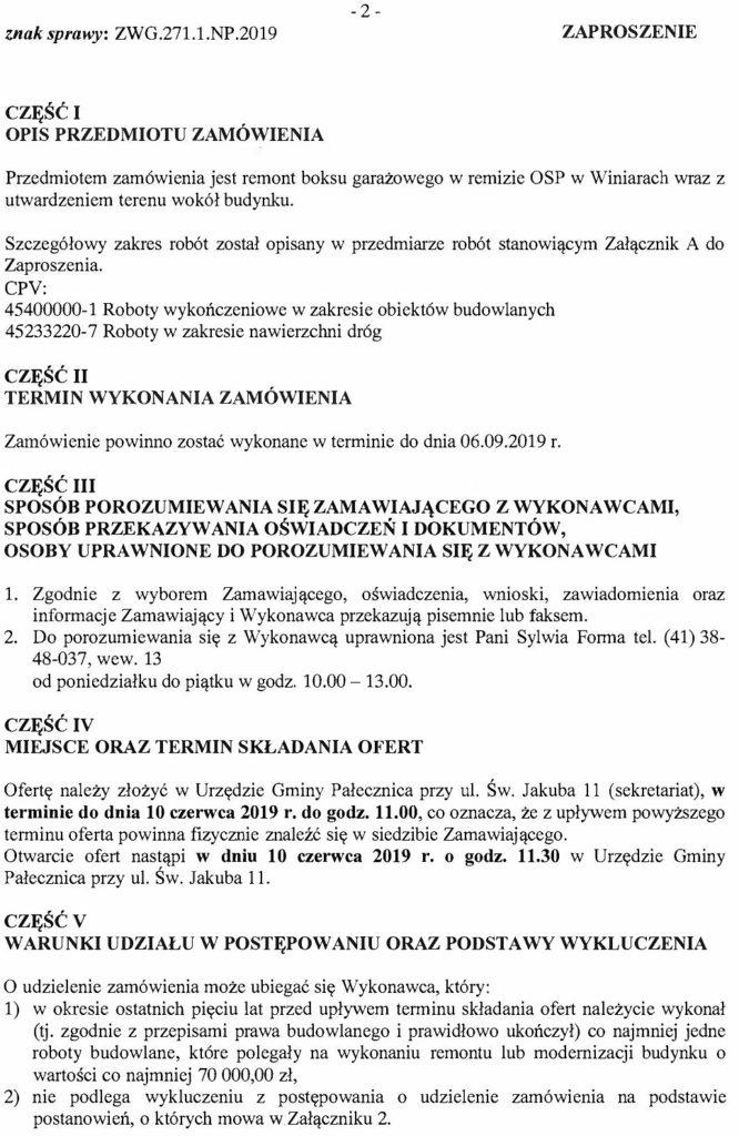 ccc9da374c4ae0 Zamówienia publiczne – Urząd Gminy Pałecznica